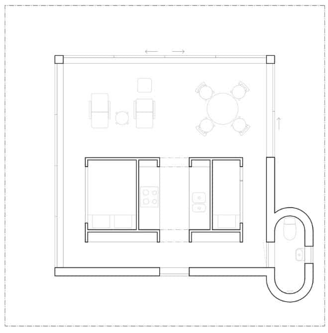 Dise o de casa de campo peque a construye hogar for Casa de 40 metros cuadrados