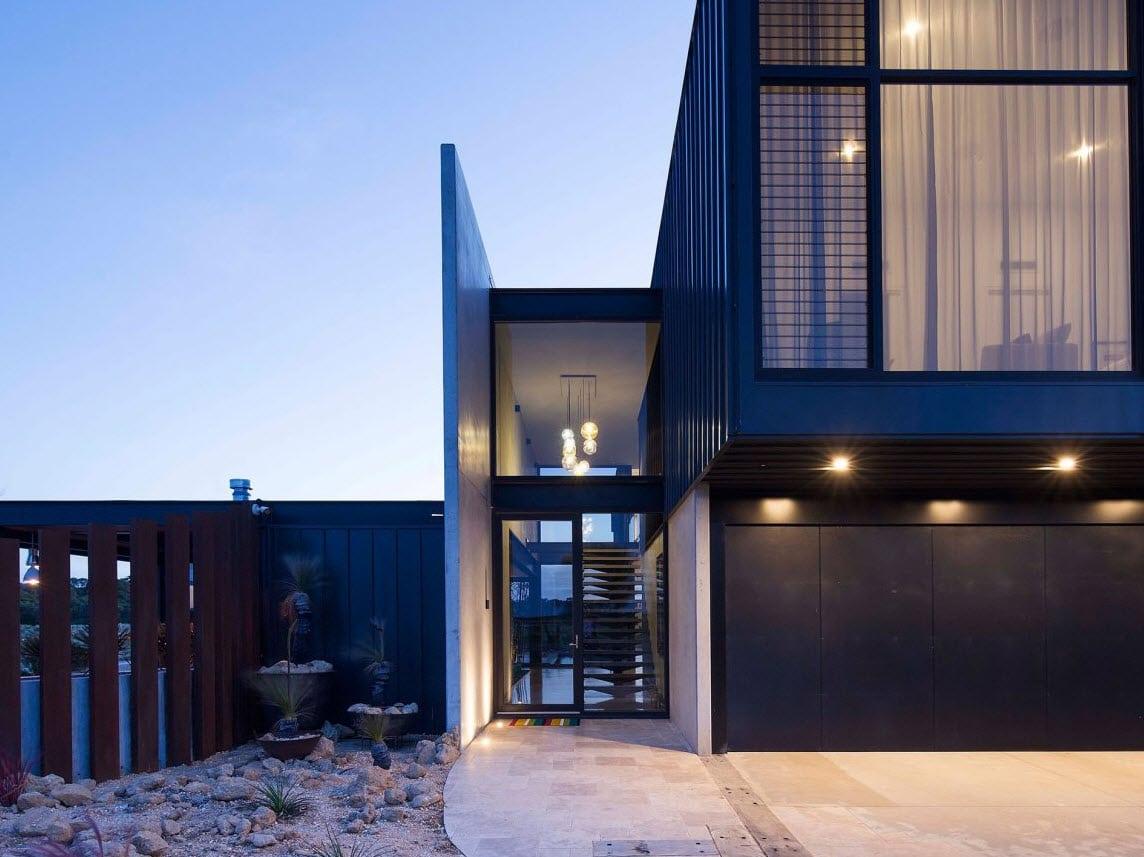 Dise o casa de dos pisos contempor nea construye hogar for Puertas de ingreso principal casas
