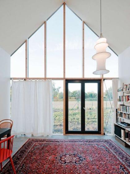 Diseño de zona social de casa de campo