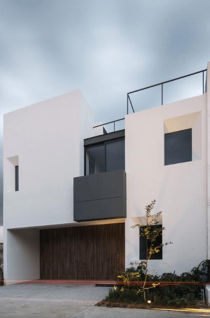 Dise o de casa dos pisos minimalista for Casa habitacion minimalista