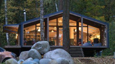 Photo of Casa de campo moderna construida con módulos prefabricados