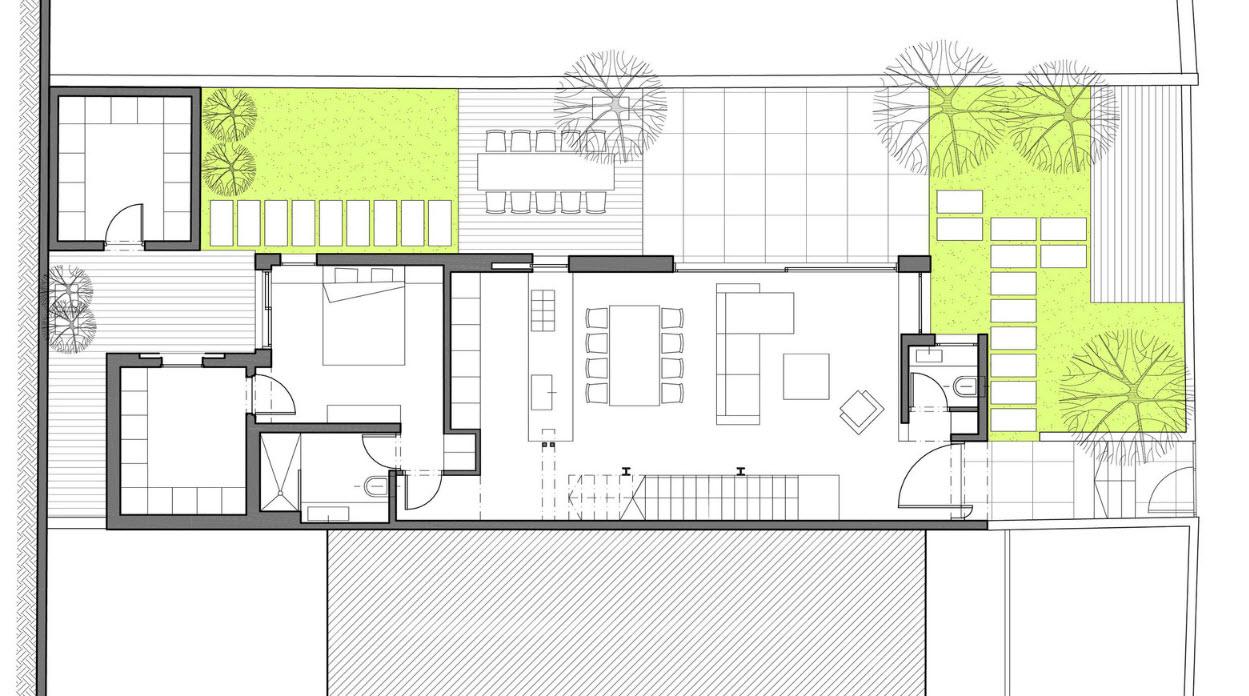 Dise o de casa dos pisos de hormig n construye hogar for Planos para casas de un piso