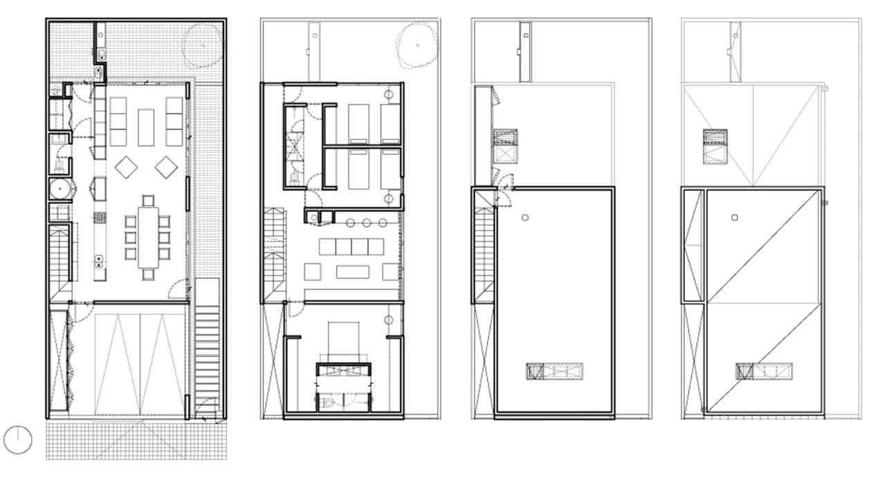 Planos de casas de dos pisos con azotea for Planos de casas 90m2