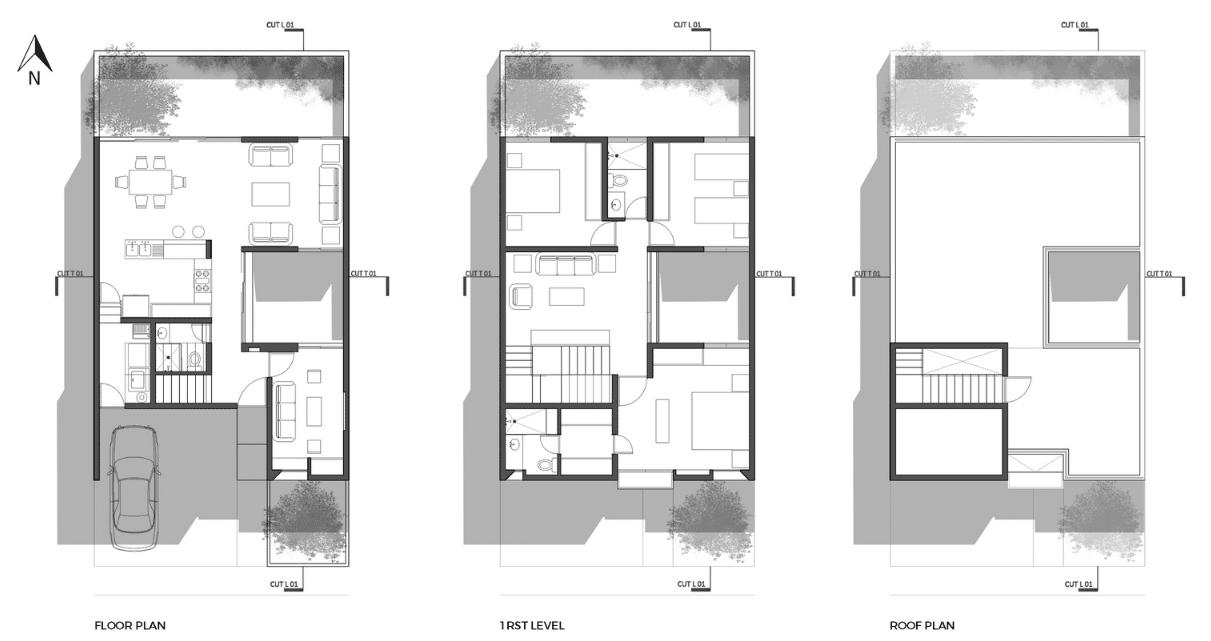 Dise o de casa dos pisos minimalista construye hogar for Vivienda minimalista planos