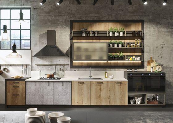 Cocina moderna combina texturas