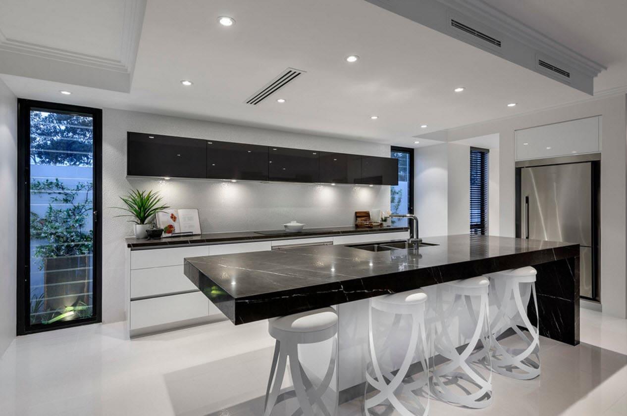 10 originales ideas de dise os de cocina for Disenos de interiores en blanco y negro