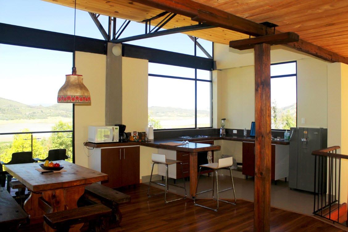 Casa de campo moderna de dos pisos planos for Cocinas de casas de campo