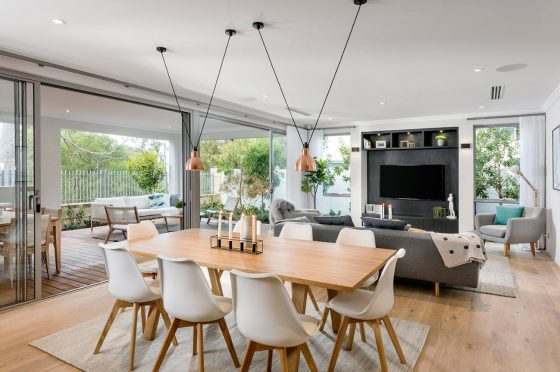 Diseño de interiores sala comedor elegantes