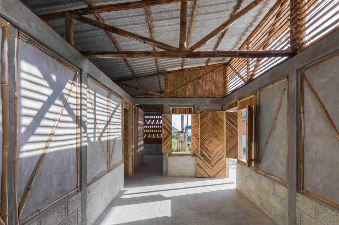 Casa de campo peque a bamb ladrillo y hormig n - Diseno casa rustica ...