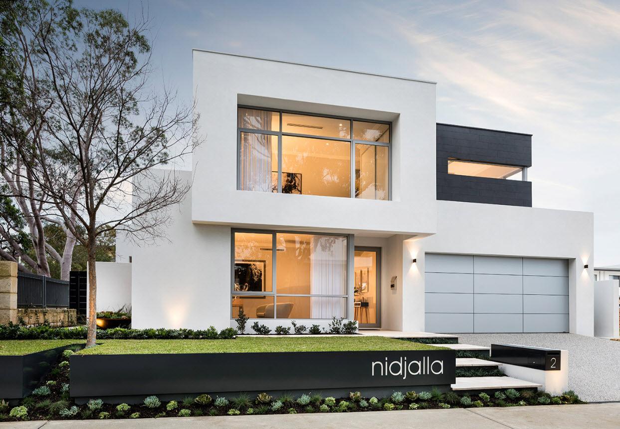 Dise o casa moderna dos pisos planos y fachadas for Planos para casas de dos pisos modernas