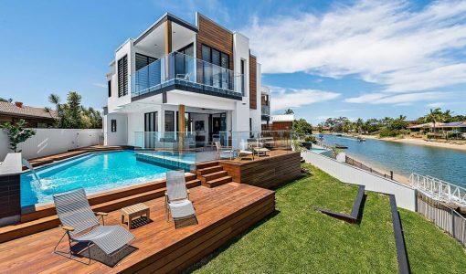 Casas de playa construye hogar for Casas de madera con piscina