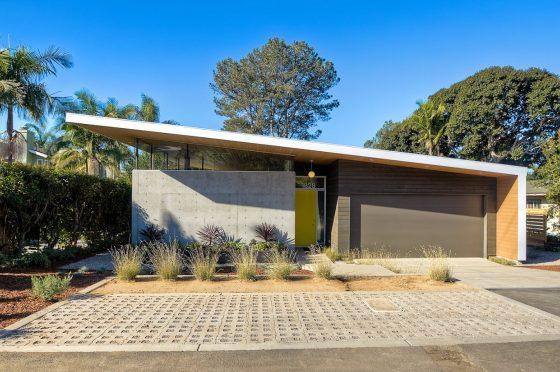 Diseño de fachada casa moderna un piso