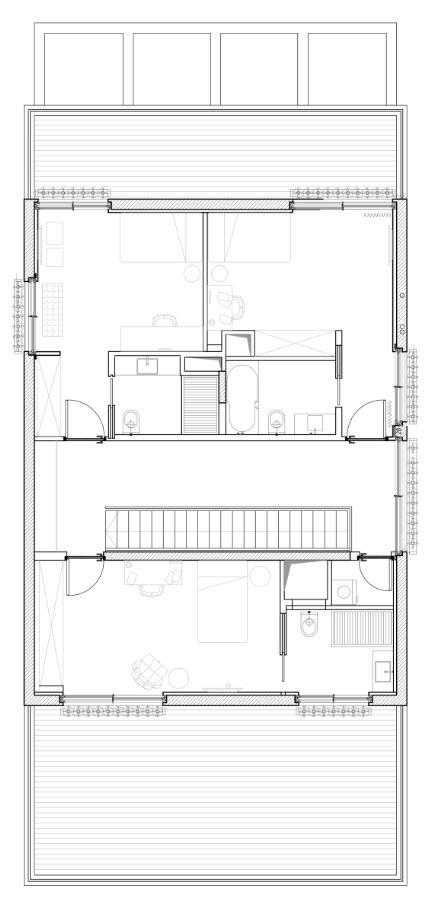 Plano casa dos pisos - segunda planta