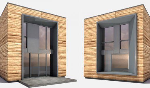 Casa prefabricada madera estructura acero