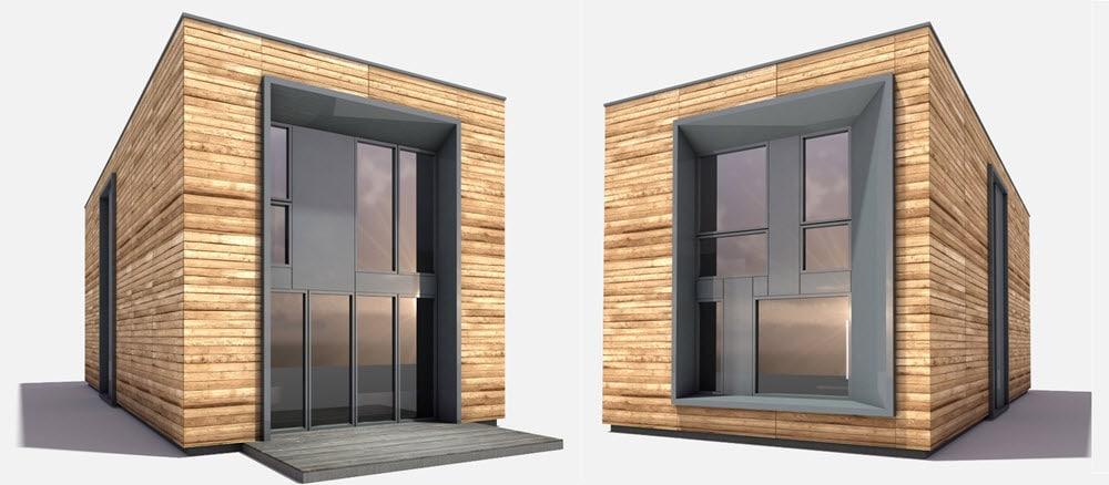 Diseño de casa pequeña prefabricada