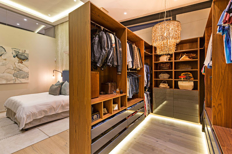 Diseño de dormitorio walking closet
