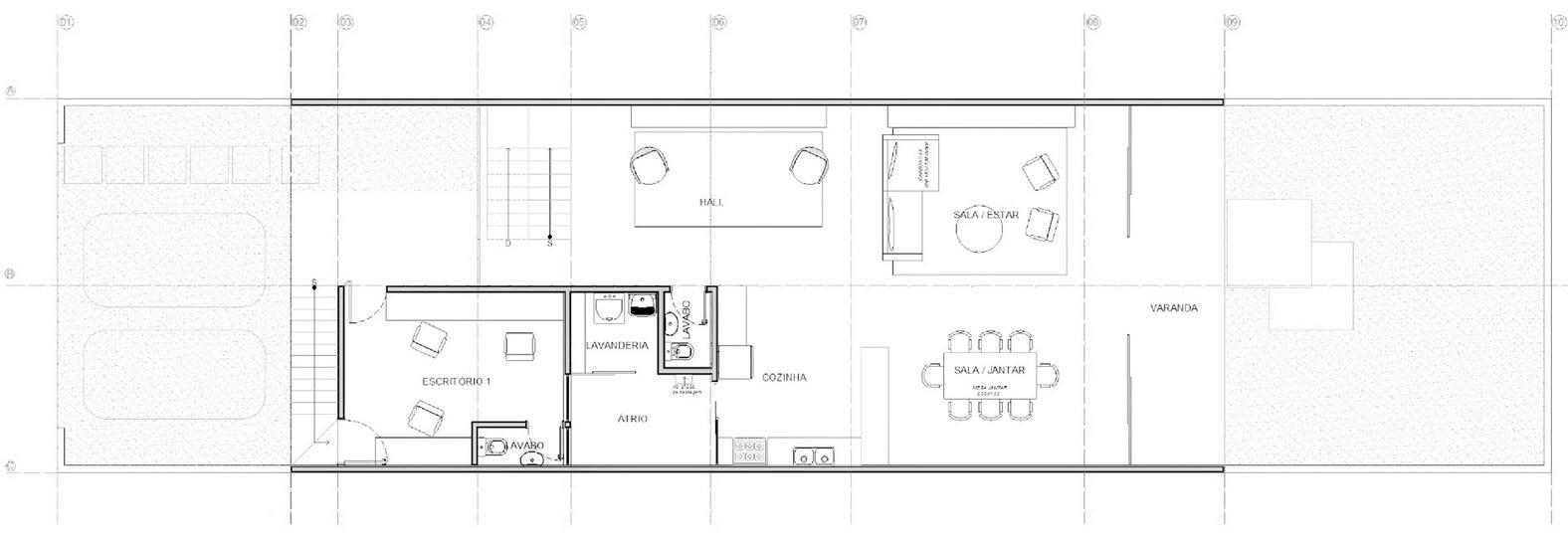 Plano casa pequeña de dos pisos