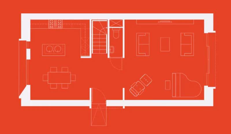 Plano de casa pequeña prefabricada