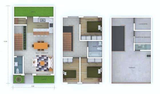 Planos construcción casa terreno pequeño