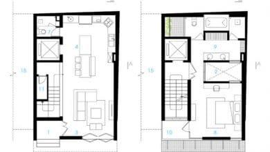 Photo of Diseño de casa pequeña en un terreno de 68 metros cuadrados