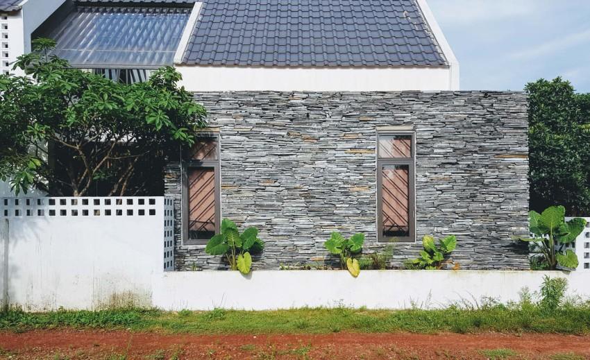 Diseño perfil casa pequeña dos plantas