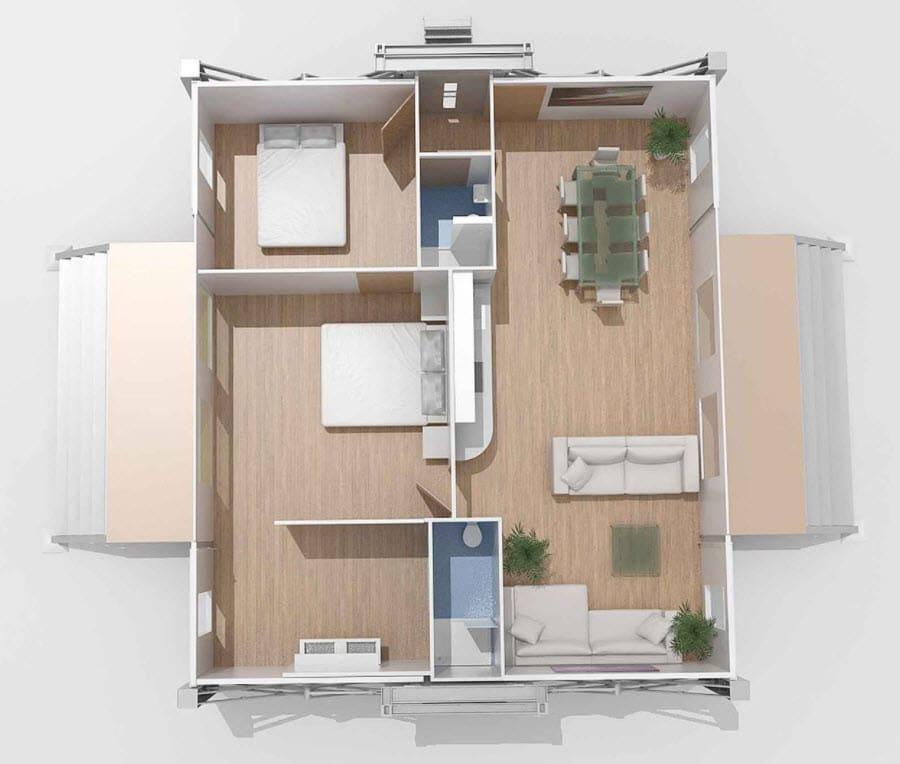 Casas prefabricadas en 10 minutos for Disenos y planos de casas prefabricadas