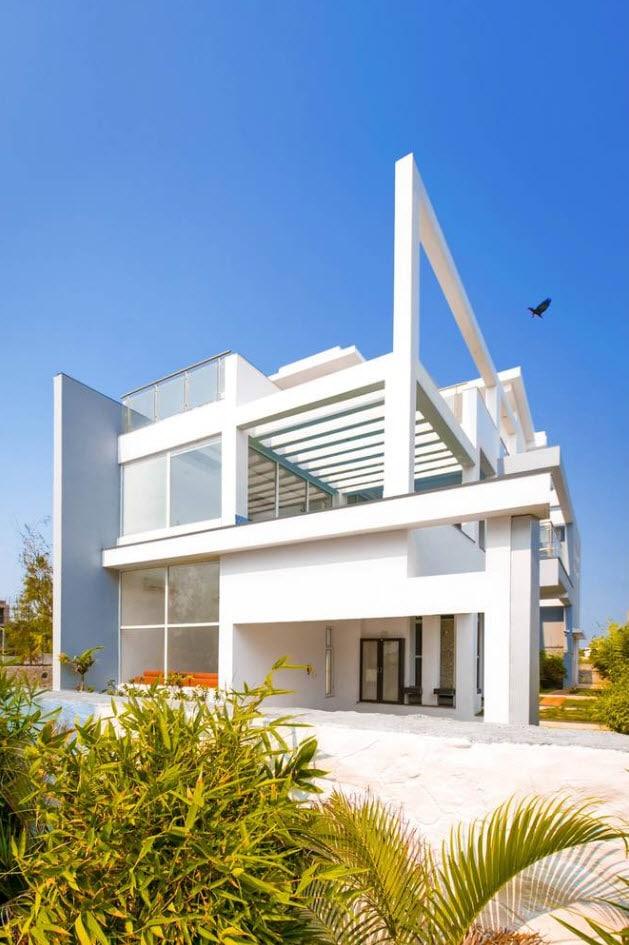 Diseño casa moderna dos plantas moderna