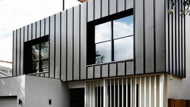 Photo of Moderna casa de dos pisos pequeña: modelo de fachada y diseño de interiores