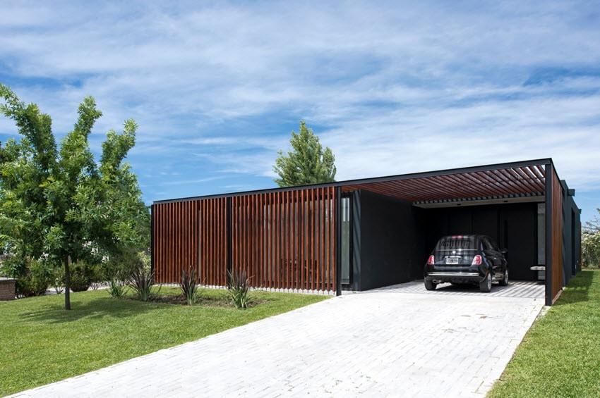Fachada casa moderna un piso