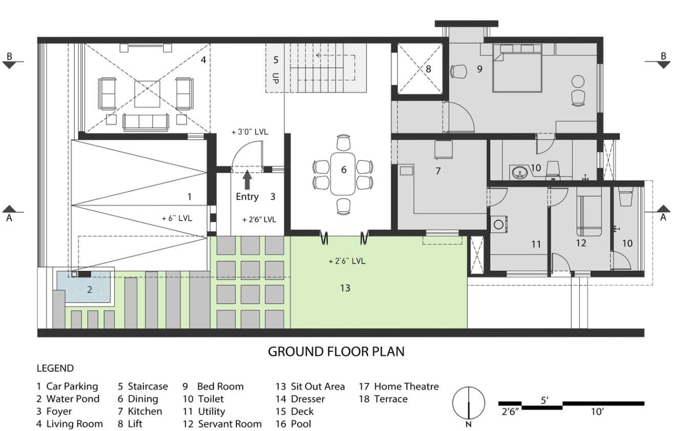 planos de moderna casa de playa construye hogar