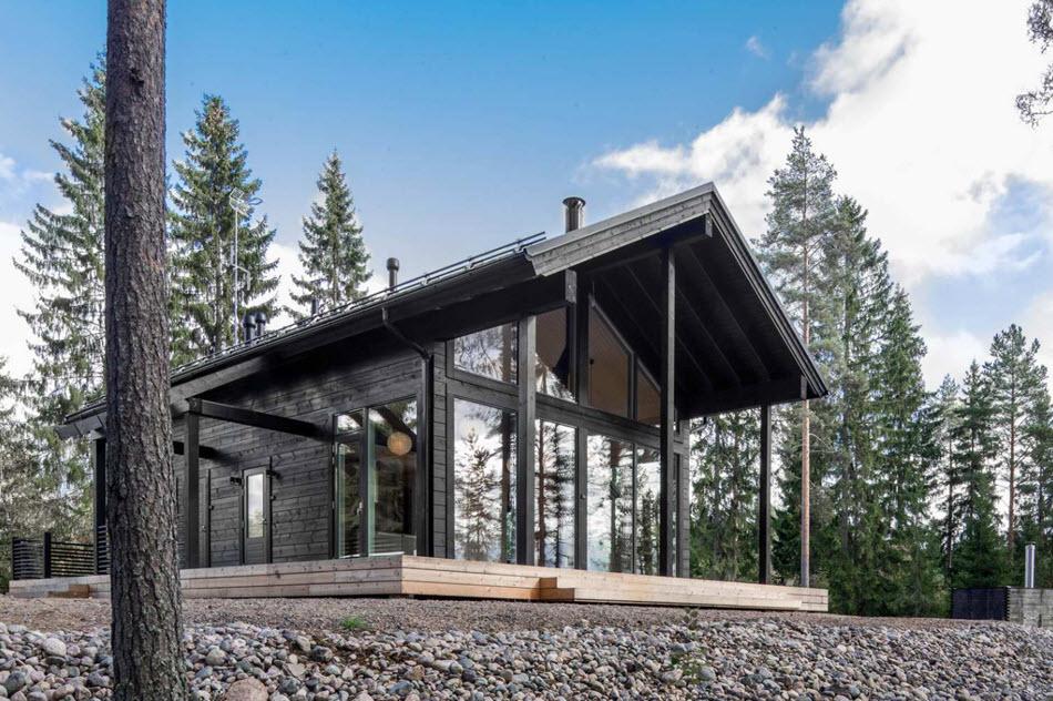 Diseño casa de campo pequeña madera