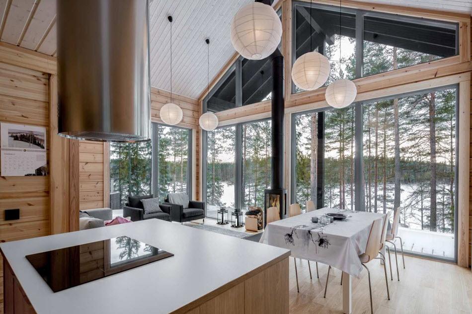 Diseño de sala comedor casa de campo