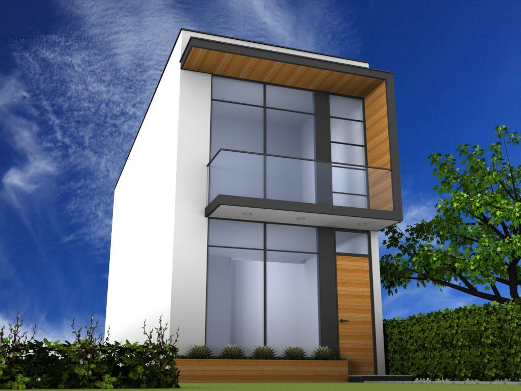 Planos de casa para terreno peque o for Fachadas de casas rojas modernas