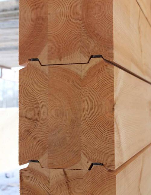 Tipo de corte para unir troncos en paredes