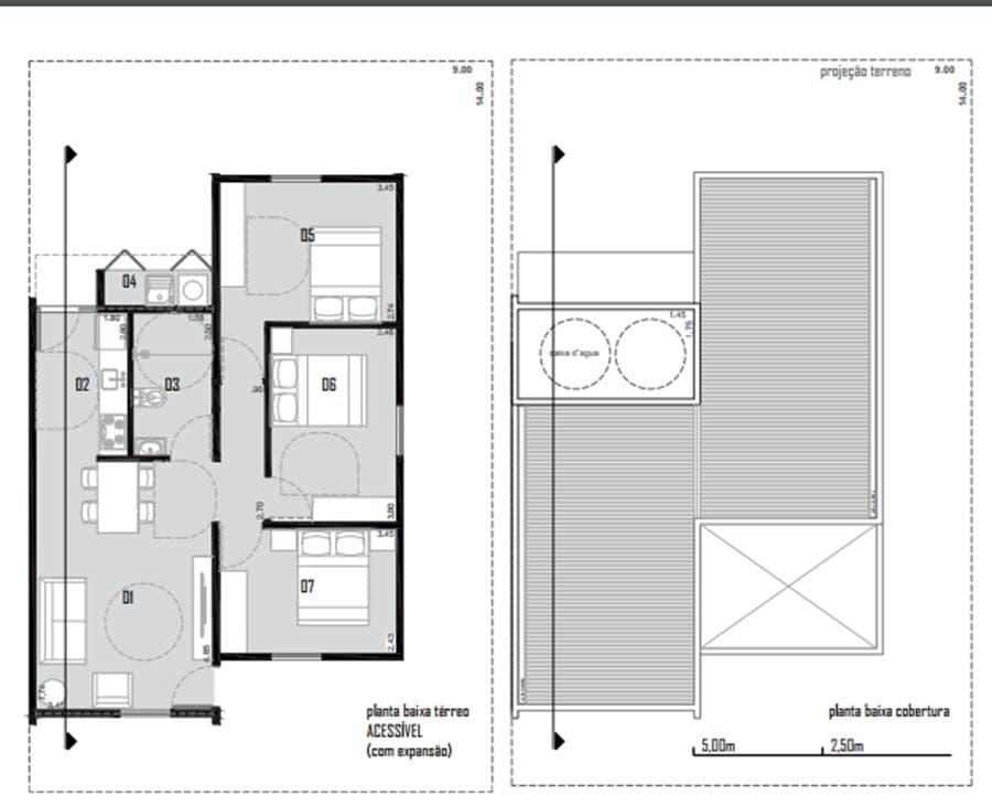 Planos casa económica de un piso
