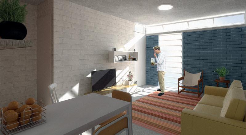 Diseño de interiores casa económica
