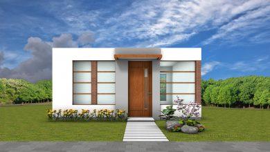 Photo of Planos de casa pequeña de 42 metros cuadrados con moderna fachada