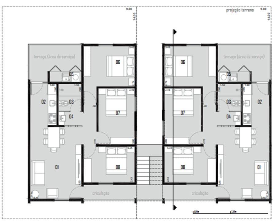 Planos de casa económica de dos pisos