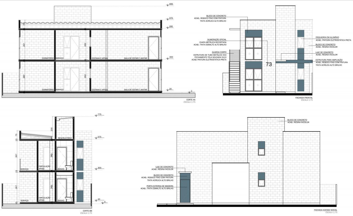 Planos de casa econ mica de uno y dos pisos construye hogar for Planos arquitectonicos vivienda