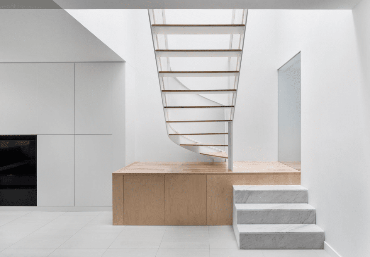 Planos de casa moderna de dos pisos descubre nuevas - Escaleras de diseno ...