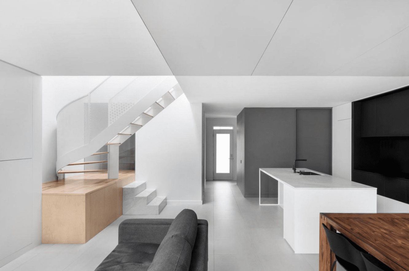 Diseño de interiores contemporánea casa dos pisos