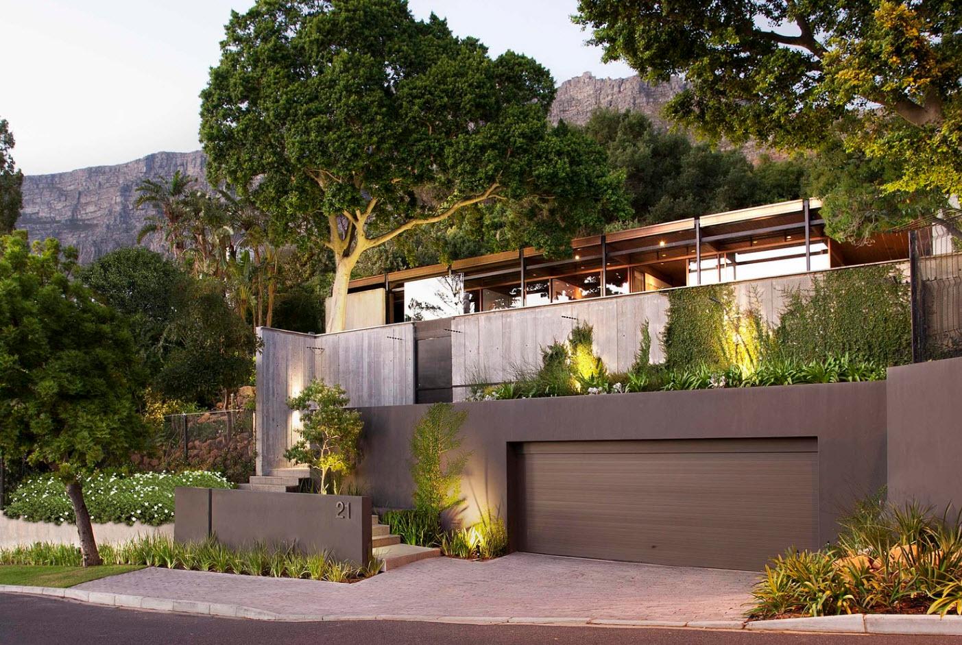 Fachada casa de campo moderna