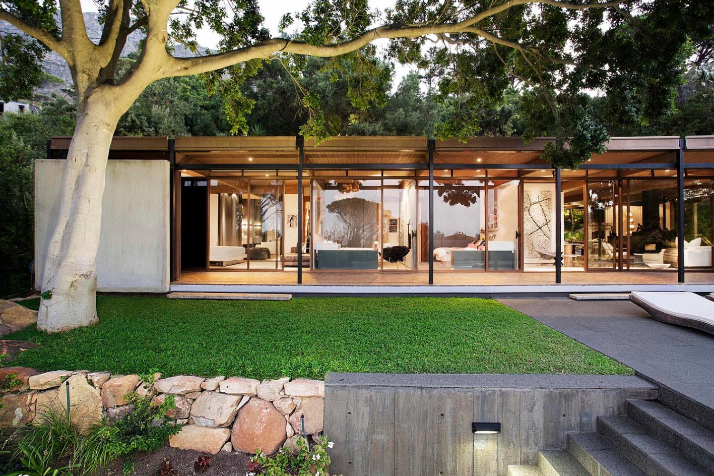 Dise o de moderna casa de monta a con impresionante vista for La casa moderna