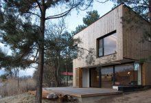 Photo of Diseño de casa de campo pequeña con moderna estructura de madera