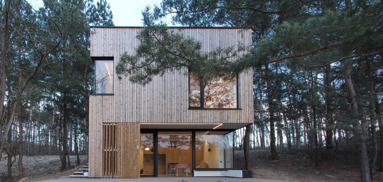 Diseno De Casa De Campo Pequena Con Moderna Estructura De Madera