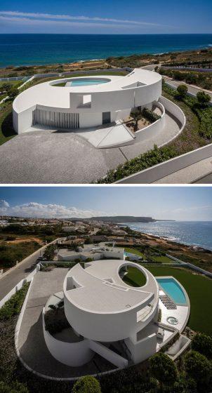Casa moderna diseño curvo circular