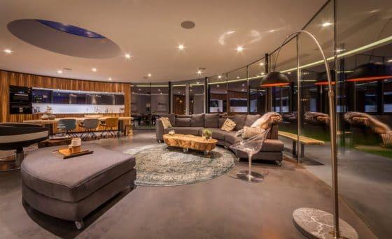 Moderno diseño interior circular
