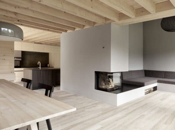 Diseño sala moderna madera