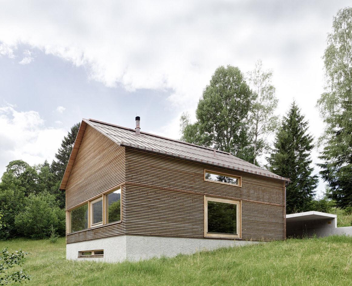 Casa de campo construida con madera construye hogar for Casas de campo de madera