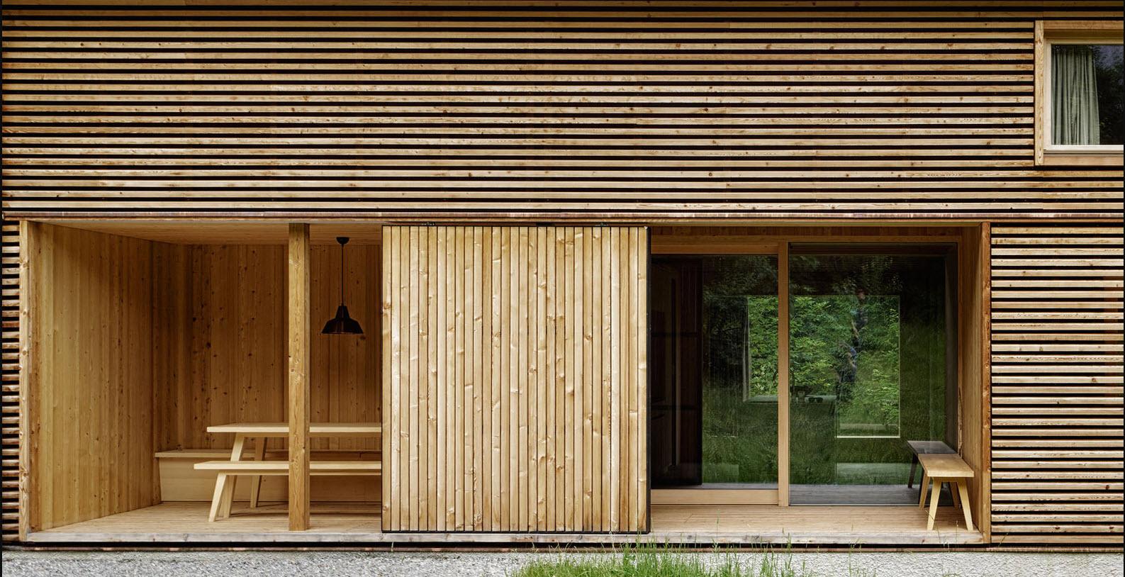 Casa de campo construida con madera construye hogar - Varillas de madera ...